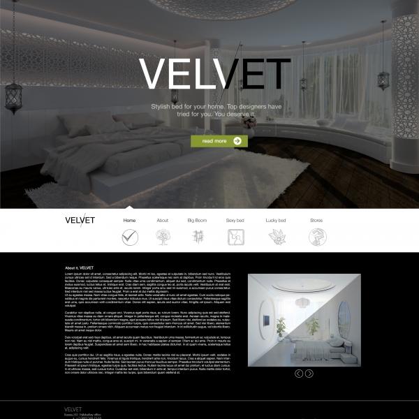 """Стильная мебель для спальни """"Velvet"""""""