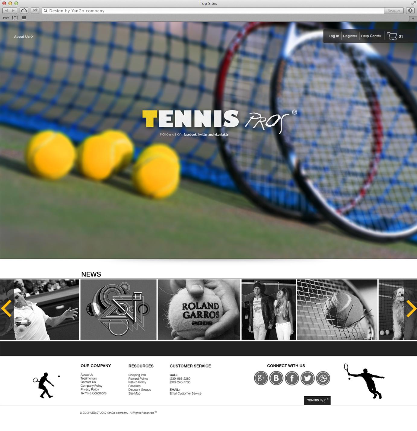 интернет магазин Tennis Pros